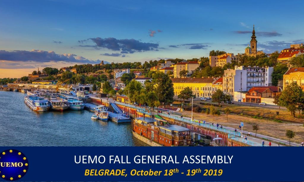 The next General Assembly of UEMO will take place in Belgrade, Serbia, on October 18th – 19th.